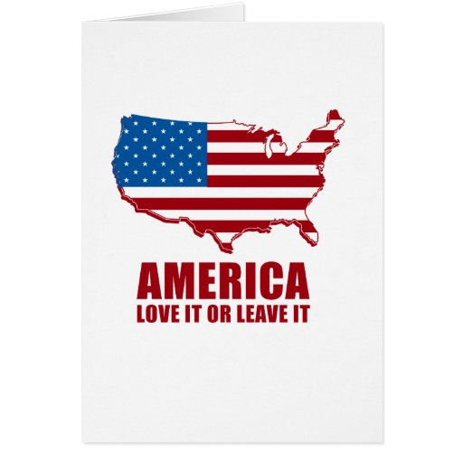 America. Love it or Leave it. Cards