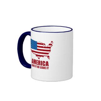 America. Love it or Leave it. Ringer Mug