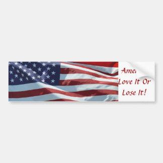 America, Love It Or Lose It Bumper Sticker