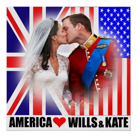 America Loves Prince William & Kate Poster