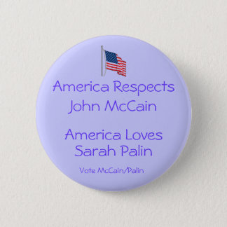 America Loves Sarah Palin Button