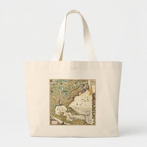 America Map 1773 Canvas Bag