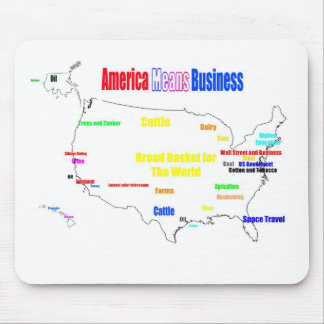 America Means Business Mouse Pad