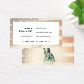 America my homeland business card