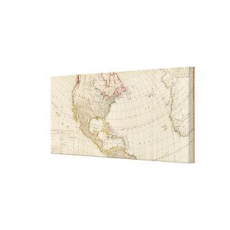 America north canvas print