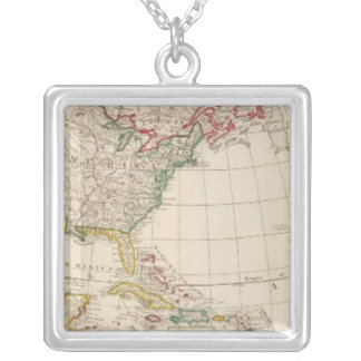 America north silver plated necklace