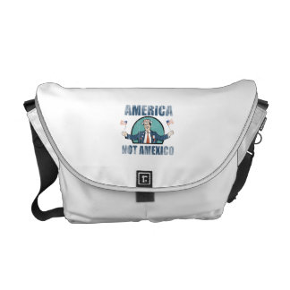America not Amexico Faded.png Messenger Bags