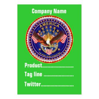 America Not Forgotten 1 Card Business Vert. Notes Business Cards