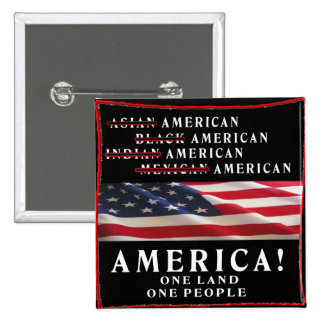 AMERICA - ONE LAND - ONE PEOPLE - USA 15 CM SQUARE BADGE