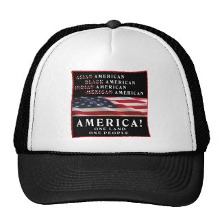 AMERICA - ONE LAND - ONE PEOPLE - USA HATS