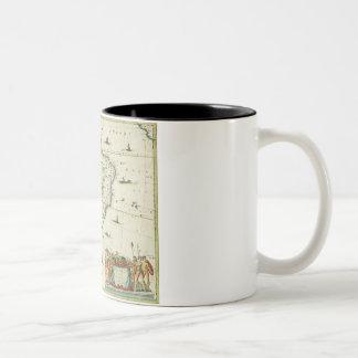 America Pars Meridionalis, page 93 of 'Atlas Minor Two-Tone Coffee Mug