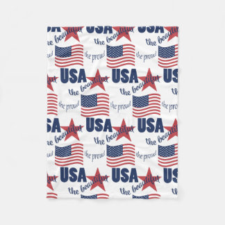 America Proud Beautiful Fleece Blanket
