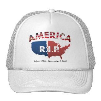 America: R.I.P. July 4, 1776-Nov 6, 2012 Cap