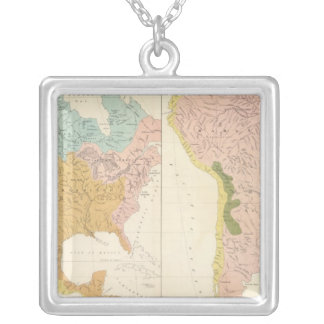America river systems silver plated necklace