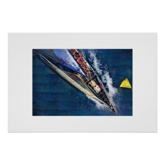 america s cup Sailing, sailboat, sailboat race Poster