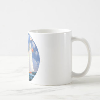 America Schooner Basic White Mug