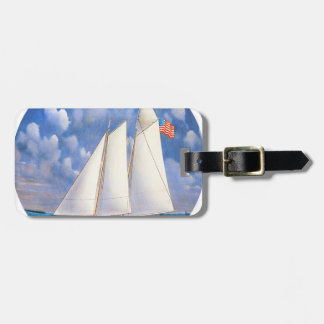 America Schooner Tag For Luggage