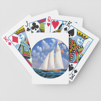 America Schooner Bicycle Playing Cards