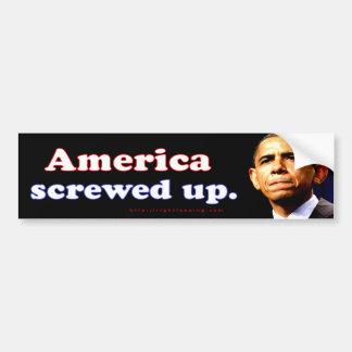 America screwed up bumper stickers