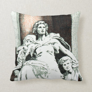 America sculpture from the Old US Customs House Cushion