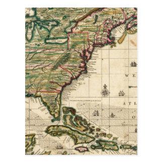 America Septentrionalis Postcard