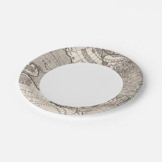 America sive India Novam, 1609 Paper Plate