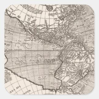 America sive India Novam, 1609 Square Sticker