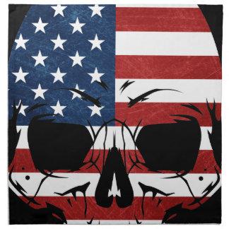 America Skull Flag Skeleton Evil Napkin