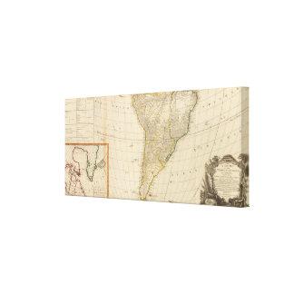 America south canvas print