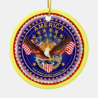 America Spirit Charm Please See Notes Christmas Tree Ornaments