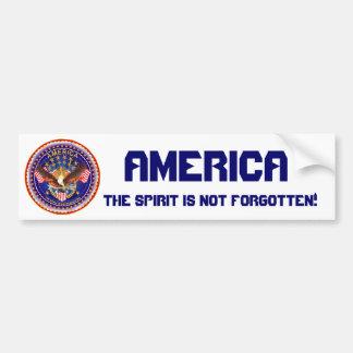 America Spirit Is Not Forgotten Please See Notes Bumper Sticker
