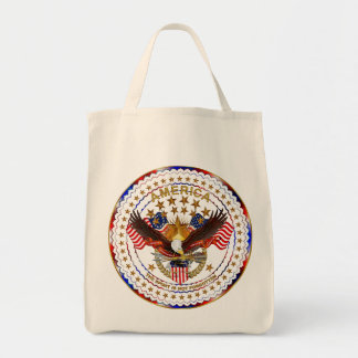 America Spirit Is Not Forgotten Please See Notes Grocery Tote Bag