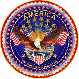 America Spirit Is Not Forgotten Sculpt. Key Chain Photo Sculpture Key Ring