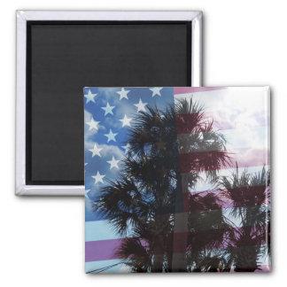 America! Square Magnet