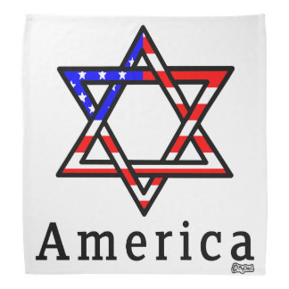 America Star of David Judaism! BANDANA