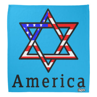 America Star of David Judaism! BANDANA BLUE
