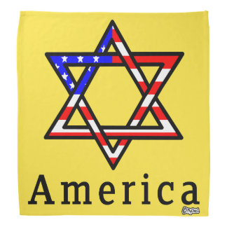 America Star of David Judaism! BANDANA GOLD