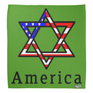 America Star of David Judaism! BANDANA GREEN