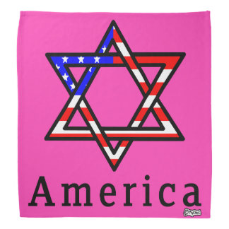 America Star of David Judaism! BANDANA LADY PINK
