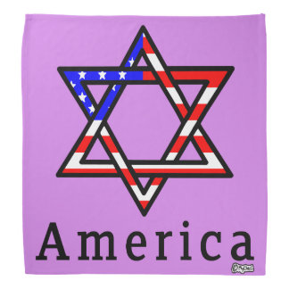 America Star of David Judaism! BANDANA LAVENDER