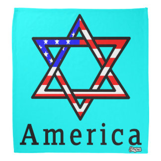 America Star of David Judaism! BANDANA SKY MINT