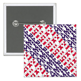 America Stars and Stripes Pinback Buttons