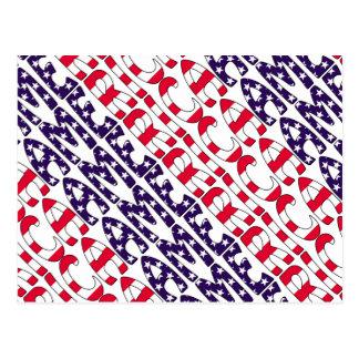 America Stars and Stripes Postcard