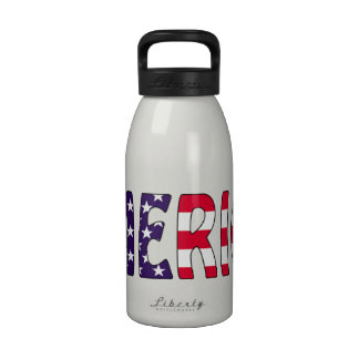 America Stars and Stripes Water Bottle