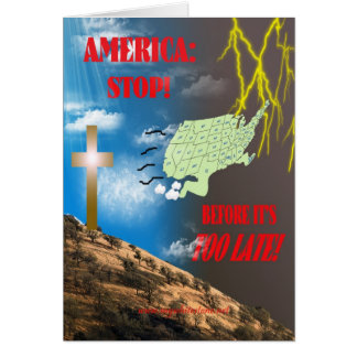 AMERICA STOP GREETING CARD
