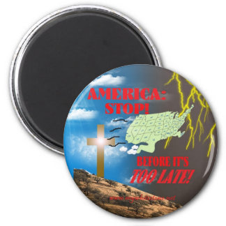 AMERICA STOP REFRIGERATOR MAGNETS