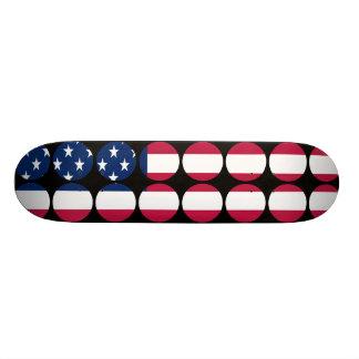 America Stylish Girly Chic Polka Dot American Flag Skate Board Decks