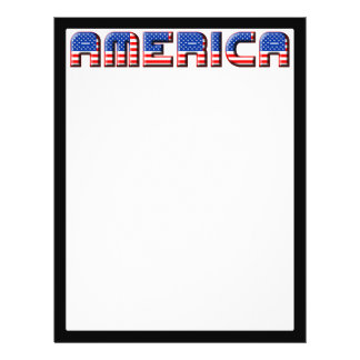 America Text Design Flyer