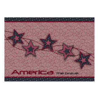 America the Brave Gift Tag Pack Of Chubby Business Cards