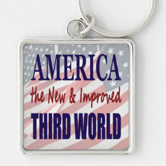 America the New and Improved THIRD WORLD Keychains